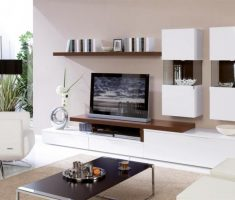 minimalist wall mount shelf design for tv