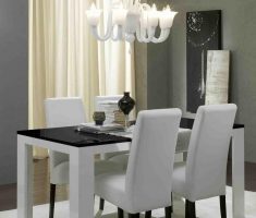 minimalist white high back dining chair