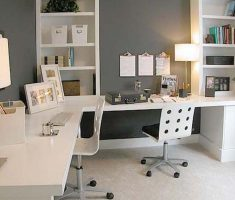 minimalist white table light shade designs for home office