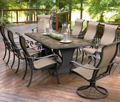 modern agio patio furniture with 8 chairs