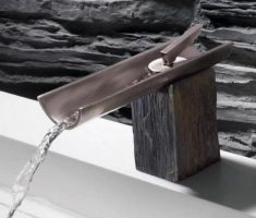 modern bathroom faucets bamboo metal design