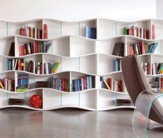 modern bookshelf wall mount shelf design