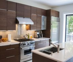 modern brown ikea kitchen cabinets