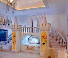 modern castle disney princess bedroom