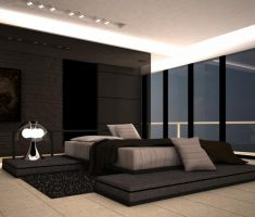 modern dark master bedrooms decoration