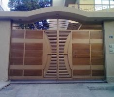 modern front gate designs for moder house with unique design carving