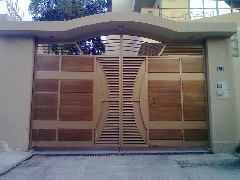 Modern front gate designs for moder house with unique for Home gate architecture