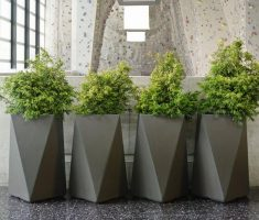 modern geometric design for modern garden pots for indoor rooms