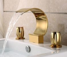 modern gold bathroom faucets for elegant bahtroom decor