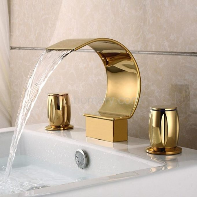 modern-gold-bathroom-faucets-for-elegant-bahtroom-decor