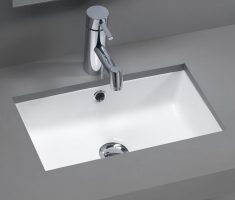 modern grey rectangle undermount bathroom sinks design