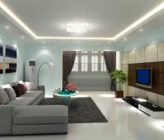 modern grey and green paint colors for living room