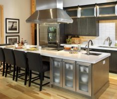 modern kitchen island cart with seating