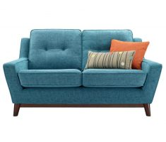 modern light blue small sofa bed design