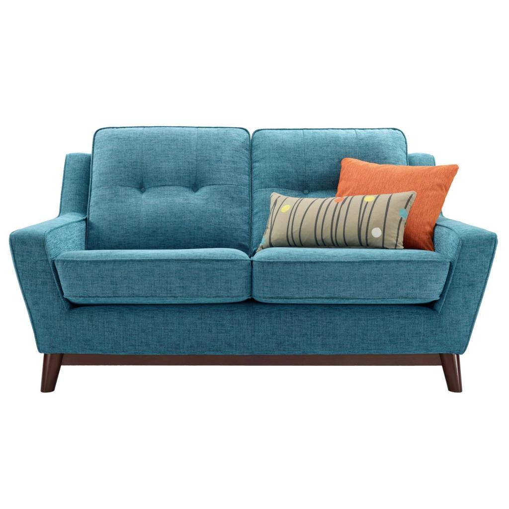 Modern light blue small sofa bed design home inspiring for Small settee