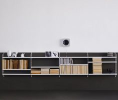 modern metal wall mount shelf design