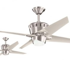 modern metalic chrome bronze ceiling fans with lights by kichler