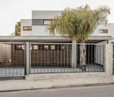 modern minimalist front gate designs and fence for small modern house