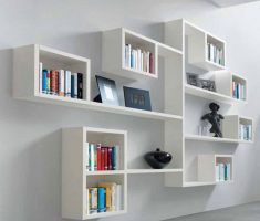 modern white hanging wall mount shelf design decorations
