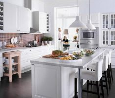 modern white ikea kitchen cabinets for modern kitchen