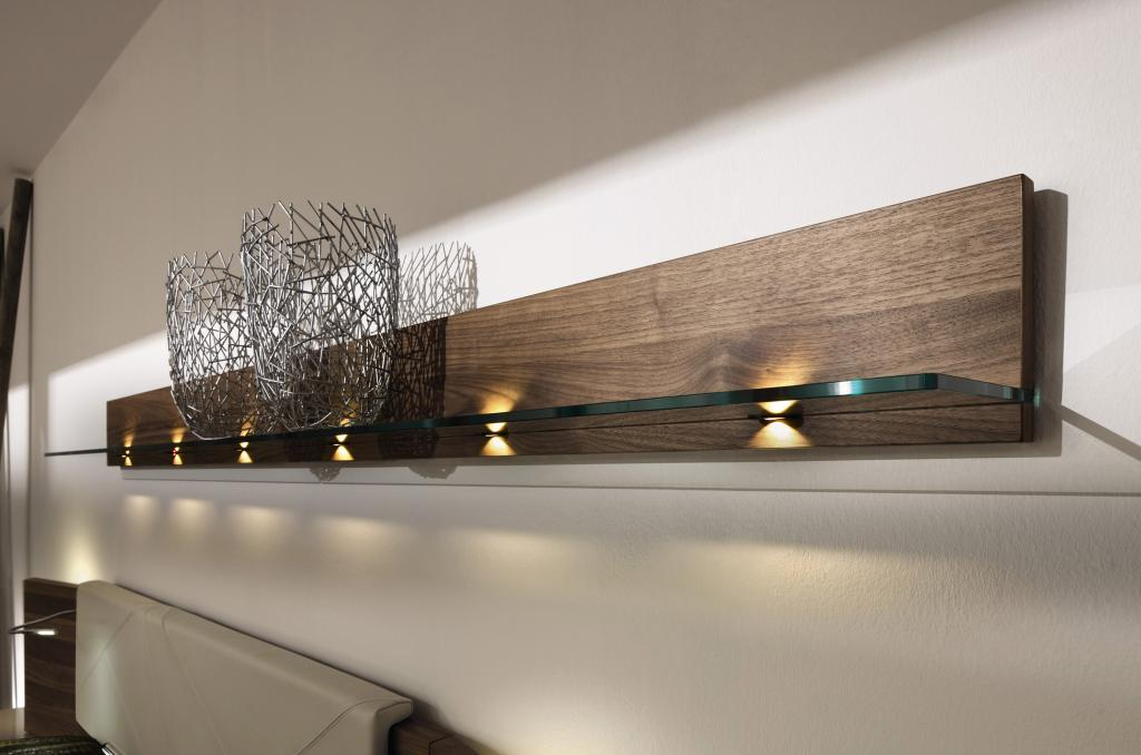 modern-wooden-wall-mount-shelf-design-with-glass-and-wood-materials-with-light-under-it Home ...