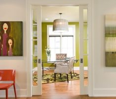 modern chandelier light shade designs for home office with green lime wall decor