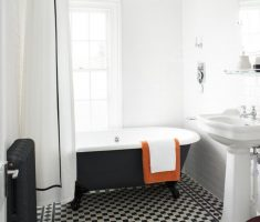 mosaic black and white tles traditional bathroom designs