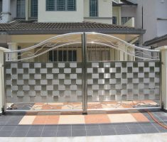 mosaic modern front gate designs for modern house