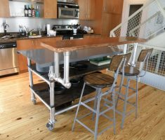 nice diy kitchen island cart with stools