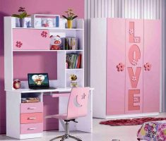 nice girls bedroom furniture with study table