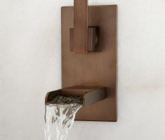 nice modern bronze bathroom wall faucets design
