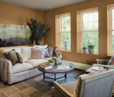 old orange paint colors for living room