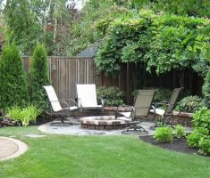 outdoor dining are on backyard landscaping ideas