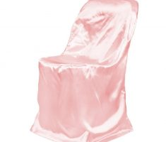 pink satin folding chair covers