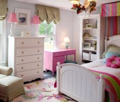 pink small girls bedroom furniture decor