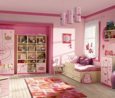 pinks girls bedroom furniture design