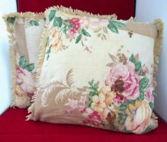 pretty flowers for throw pillow covers design