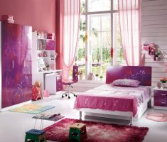 purple pink girls bedroom furniture