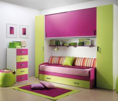 purple pink and green lime girls bedroom furniture theme