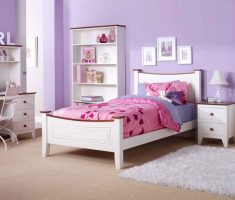 purple and whtie girls bedroom furniture