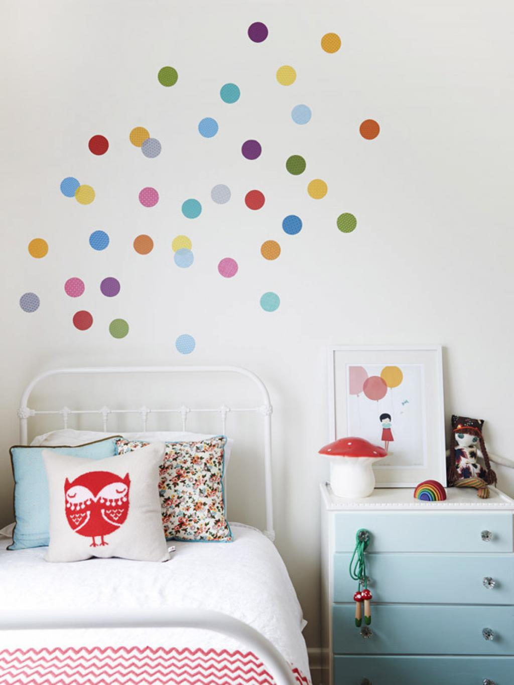 Gold and silver polka dot wall decals rainbow polka dot wall decals for kids room amipublicfo Images