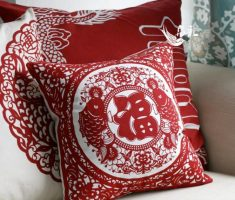 red chinese throw pillow covers design decoration