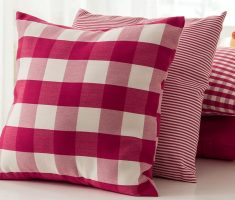 red plaid throw pillow covers design