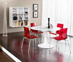 red plastic modern chair design