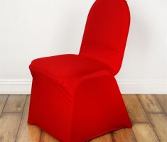 red satin folding chair covers
