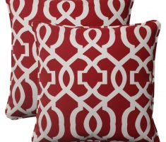 red throw pillow covers design with unique accent