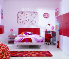 red and white ikea girls bedroom furniture