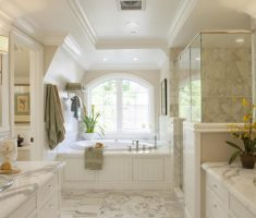royal country traditional bathroom designs with marble tiles