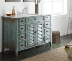 rustic light blue traditional bathroom designs vanity withh drawer