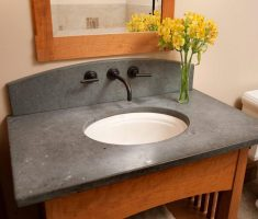 rustic ovale undermount bathroom sinks with flower decor bathroom